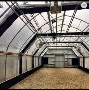 Blackout light deprivation greenhouse